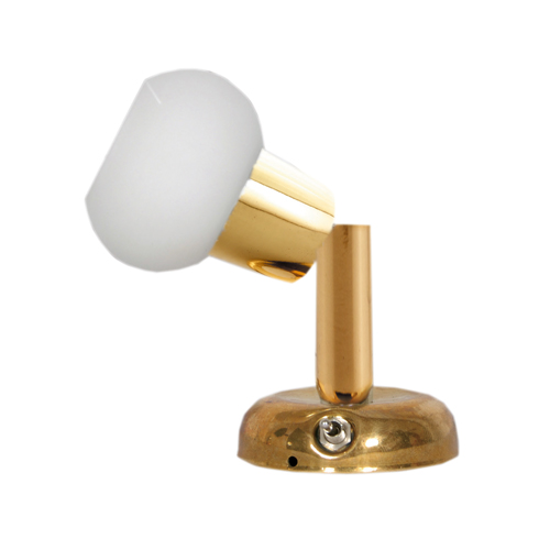 LED SWIVEL BRASS READING WALL LIGHT DIMMABLE MARINE BOAT