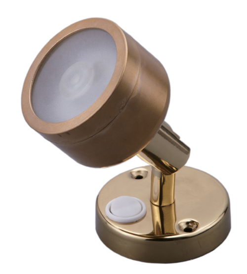 LED BRASS SS304 READING WALL LIGHT DIMMABLE MARINE BOAT