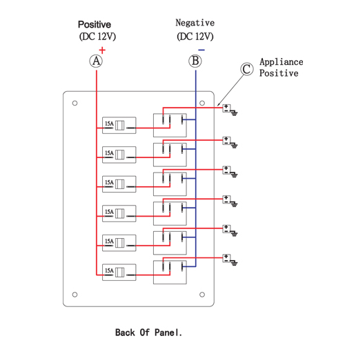 6 Gang Rocker Switch Panel Wiring Diagram from www.pactrademarine.com