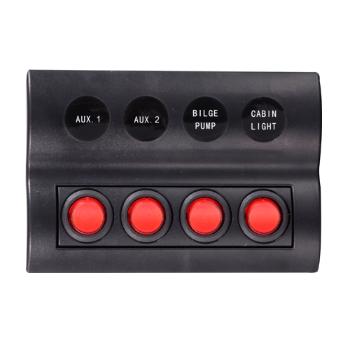 4 Gang Splashproof Circuit Breaker Switch Panel