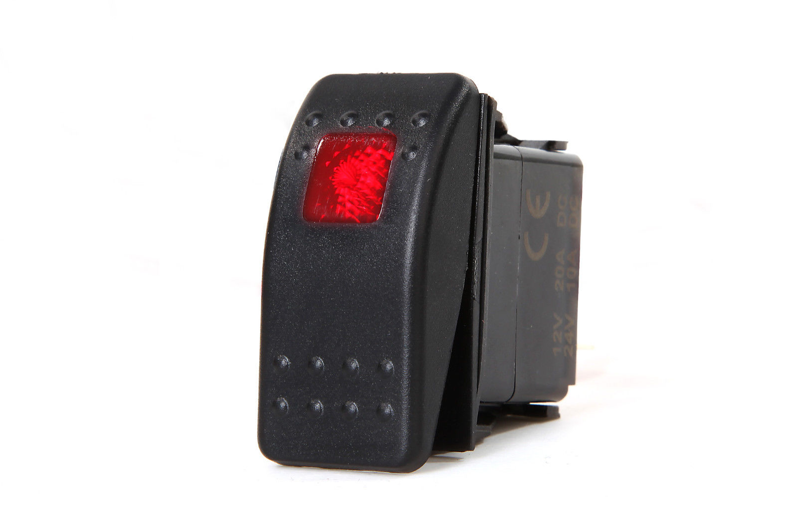 Marine Light Switches: MARINE BOAT TRAILER RV ROCKER SWITCH ON-OFF SPST 3 PIN 1 RED LED,Lighting