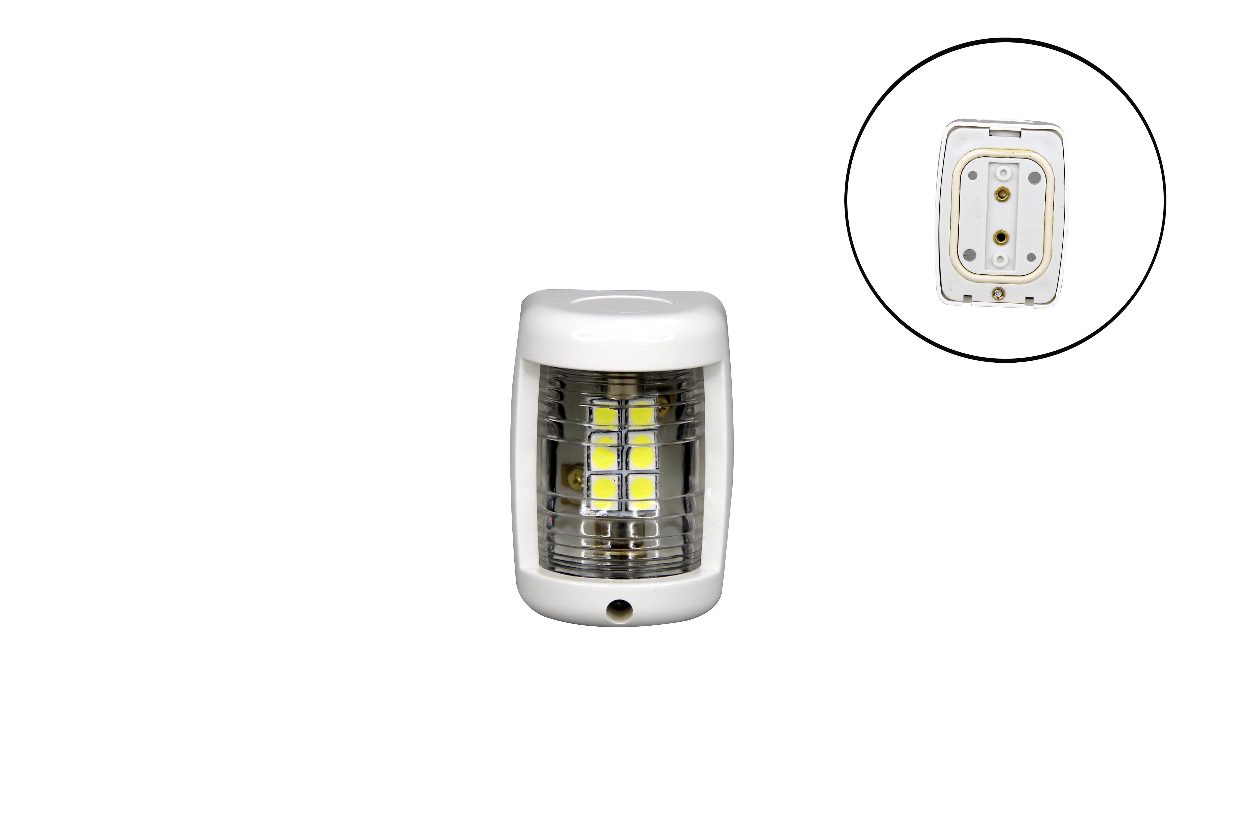 Boat Mini White Stern LED navigation Light 12v up to 2NM