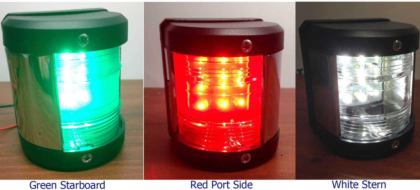 3PC SET MARINE BOAT LED NAVIGATION LIGHT