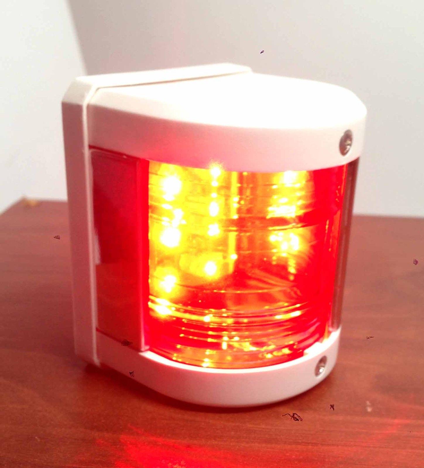 Diablo Led Boat Lights: MARINE BOAT RED PORT LED NAVIGATION LIGHT WATERPROOF BOATS