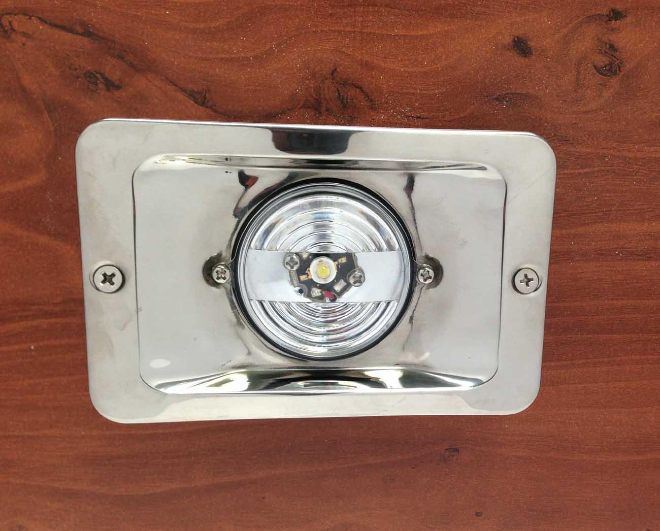 MARINE BOAT LED STERN LIGHT RECTANGULAR STAINLESS STEEL