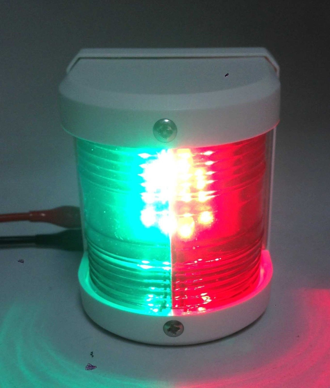 MARINE BOAT RED GREEN COMBINATION BOW LED NAVIGATION LIGHT