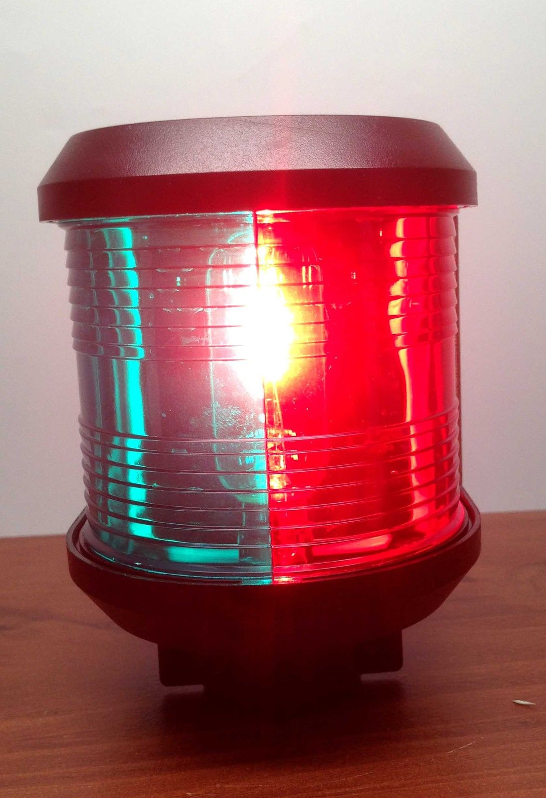 LARGE MARINE COMBINATION RED GREEN BOW NAVIGATION LIGHT WATERPRO