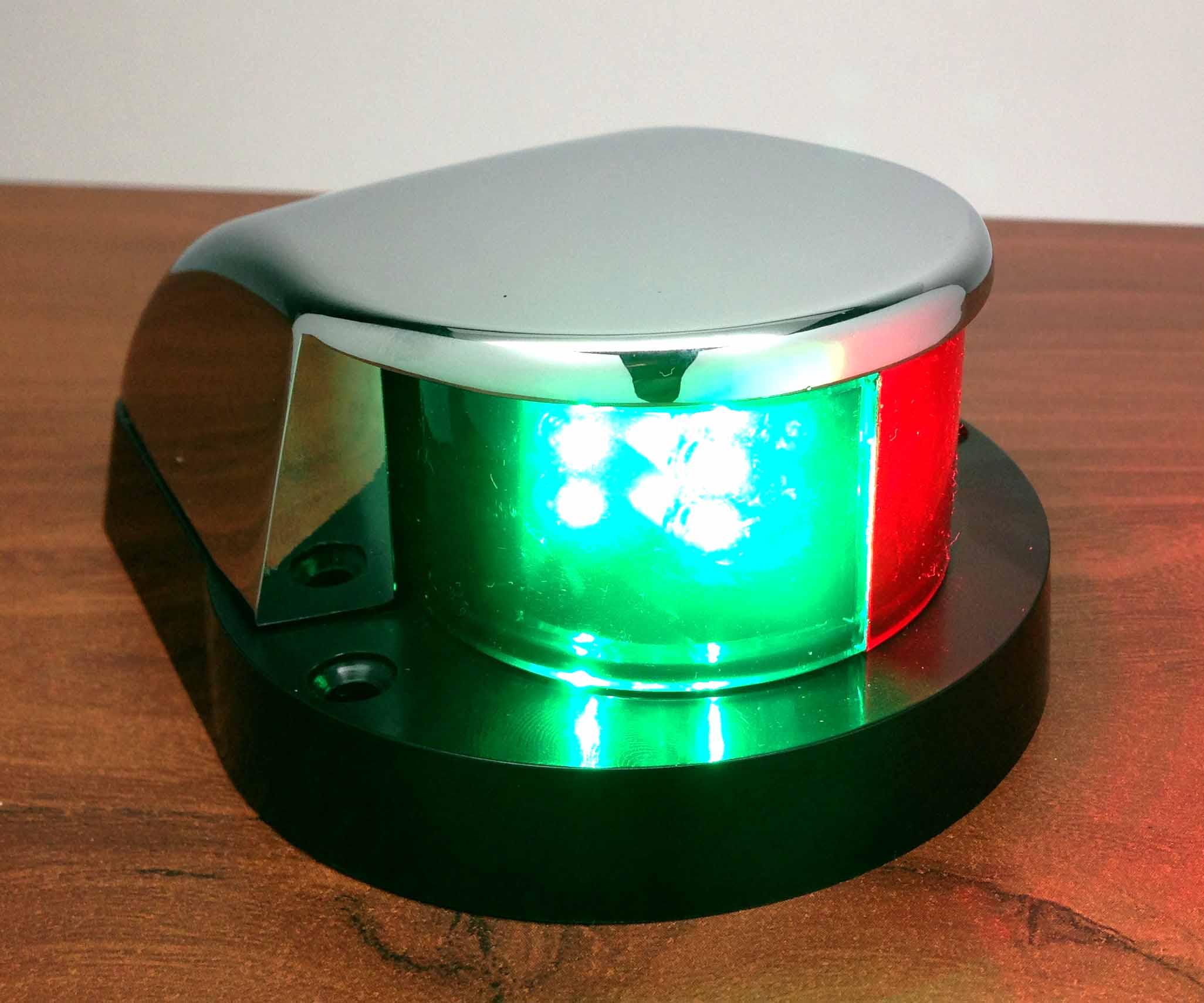 Led Boat Navigation Lights Battery: MARINE BOAT LED NAVIGATION LIGHT RED GREEN CHROME PLATED