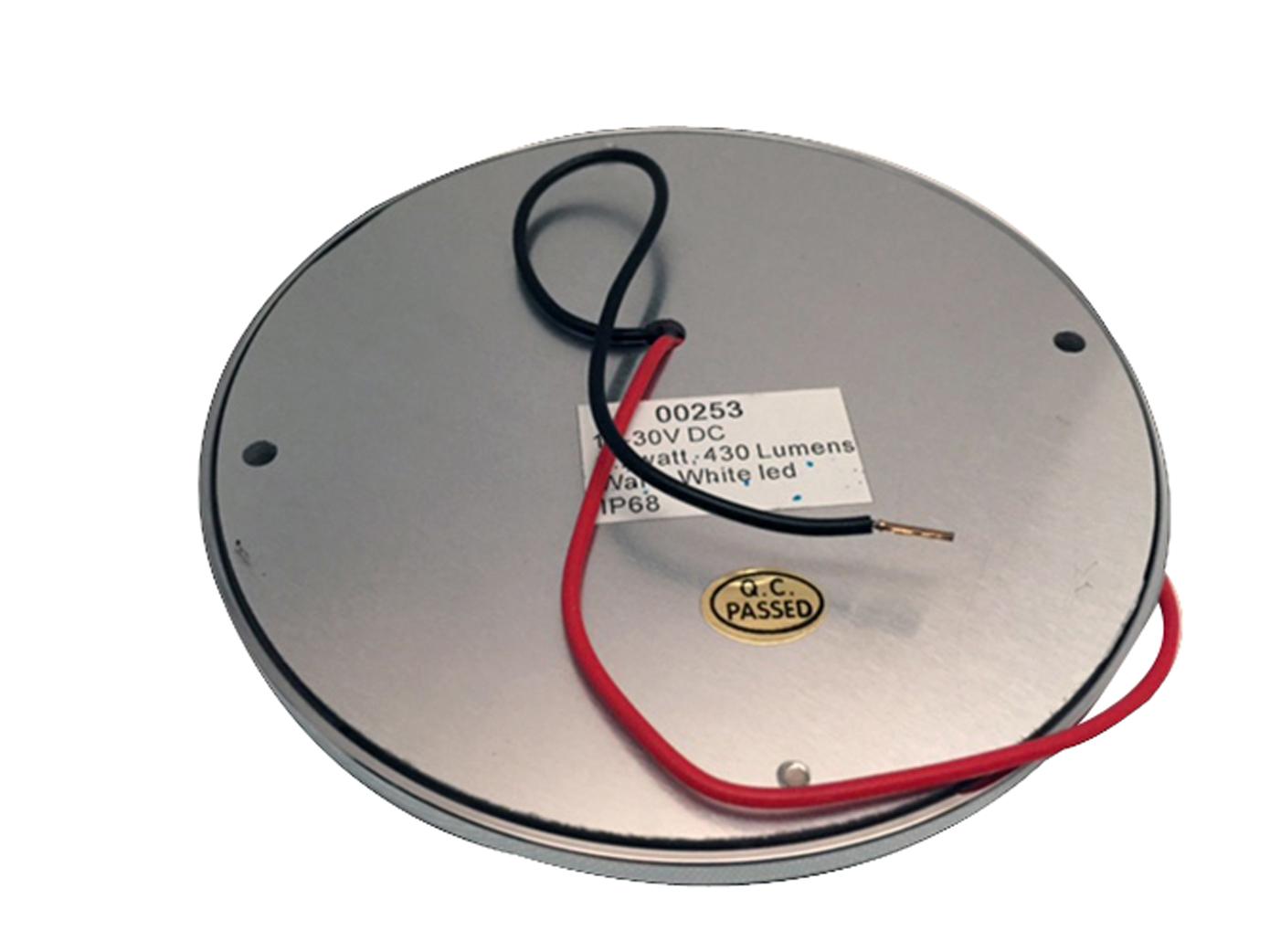 Pactrade Marine Chrome LED Ceiling Interior Courtesy Light 10-30VDC 430LM