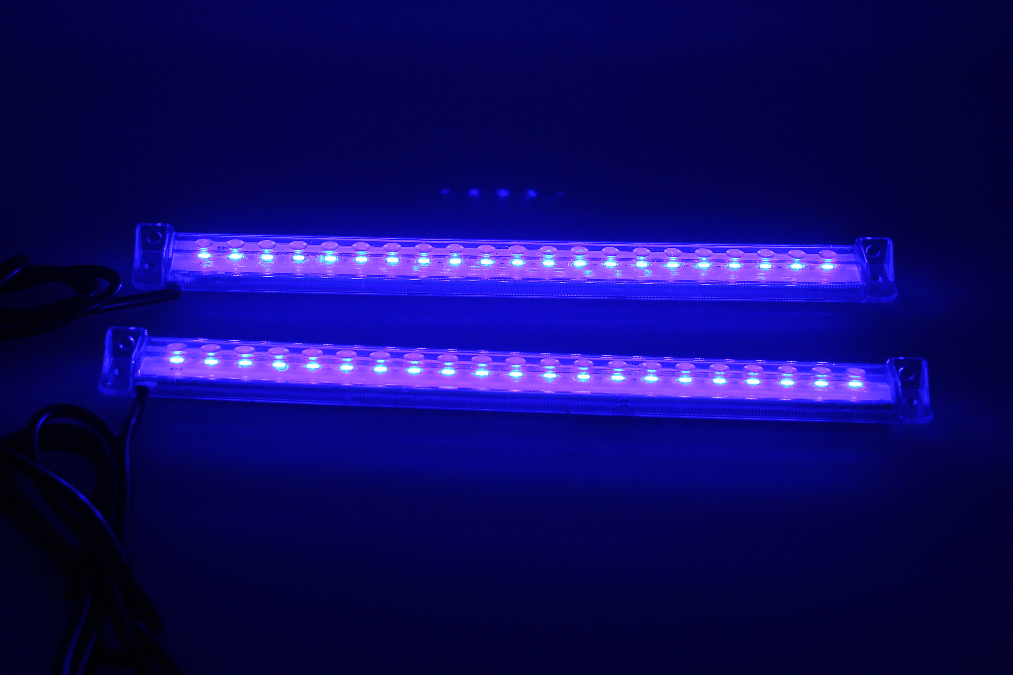 2x 21 Led 12v Trim Tab Transom Light Bar Blue Boat