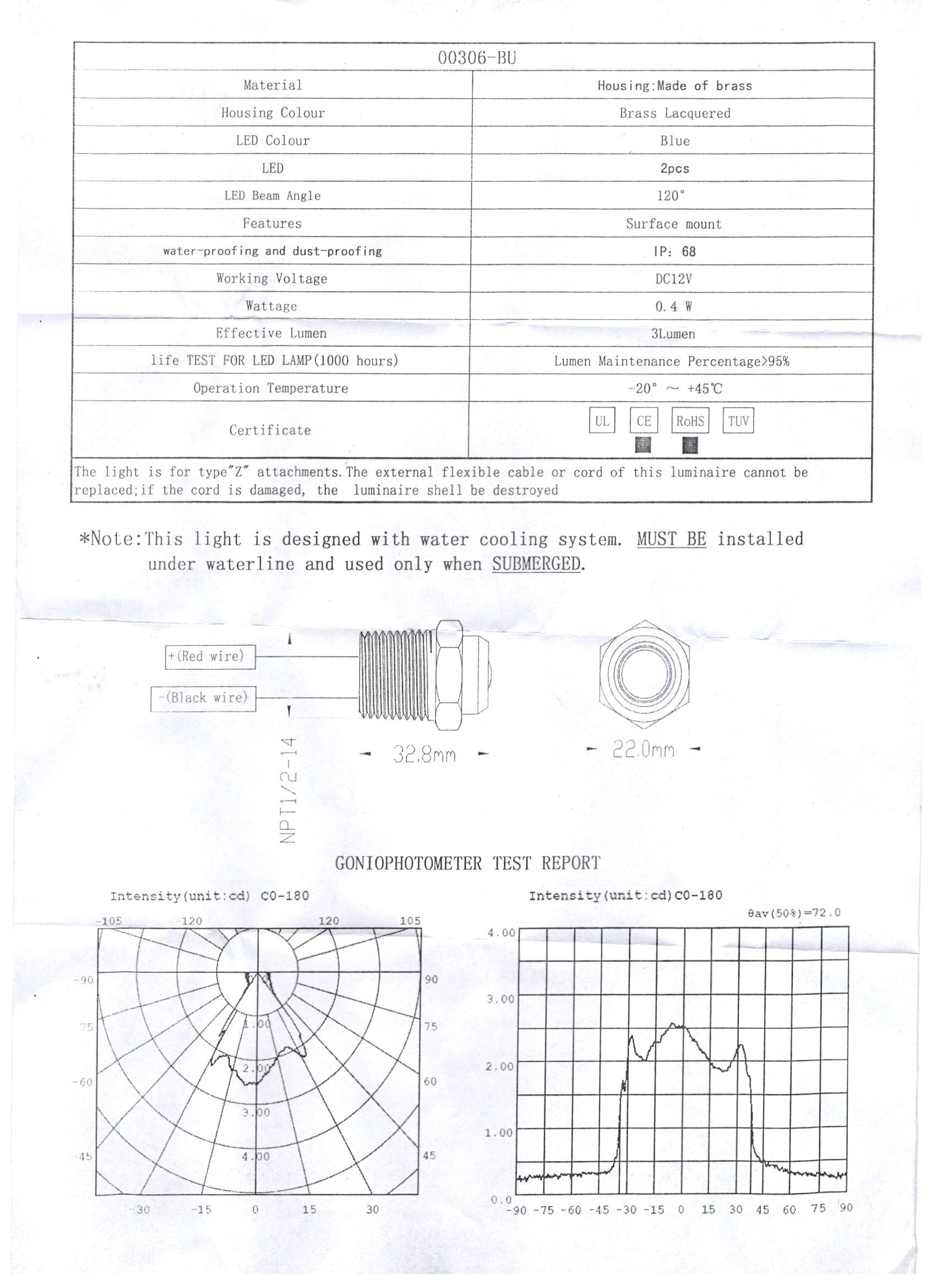 """Boat Blue LED Drain Plug 1/2"""" NPT Br Underwater Light 12V ... Underwater Boat Light Wiring Diagram on tube light wiring diagram, led light wiring diagram, halogen light wiring diagram, multiple fluorescent light wiring diagram, high bay light wiring diagram,"""