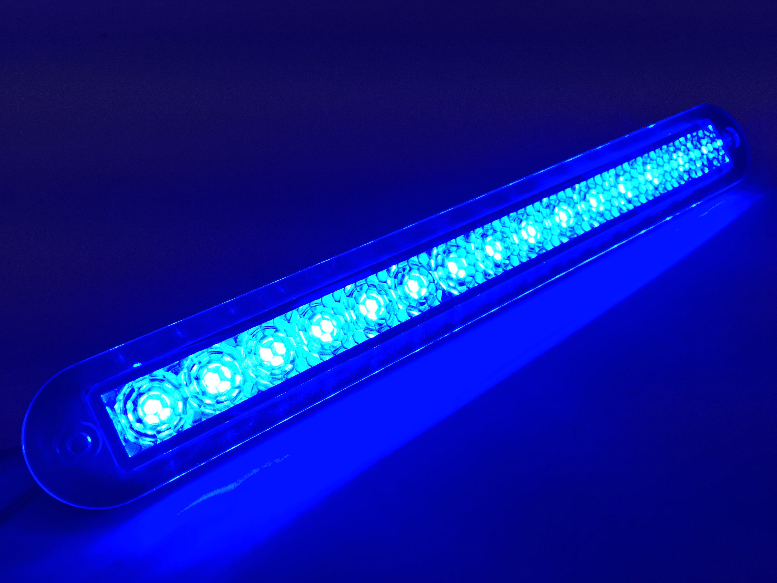 Marine Boat Blue Led Strip Light 23lm Flush Mount 12v 3w