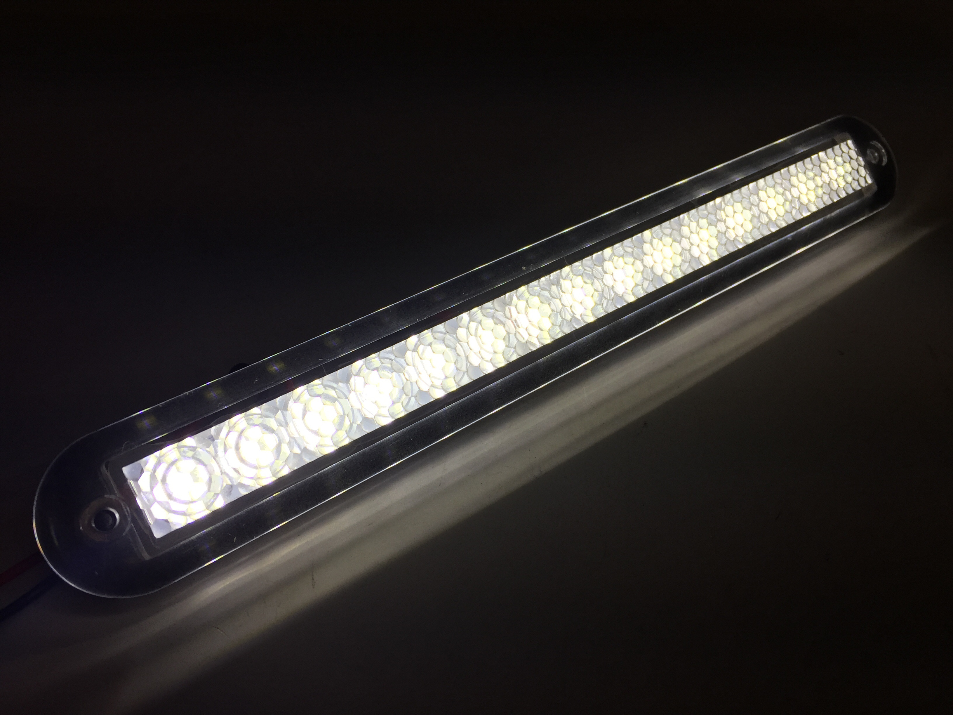 Marine Boat White Led Strip Light 176lm Flush Mount 12v 3w