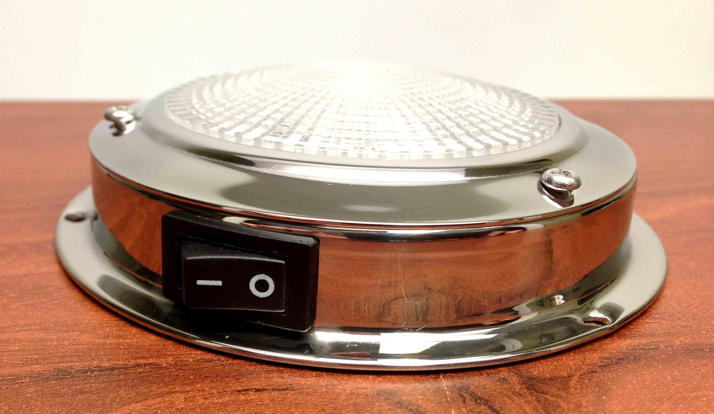 Stainless Steel Led Dome Ceiling Light 3 Quot Lens On Off