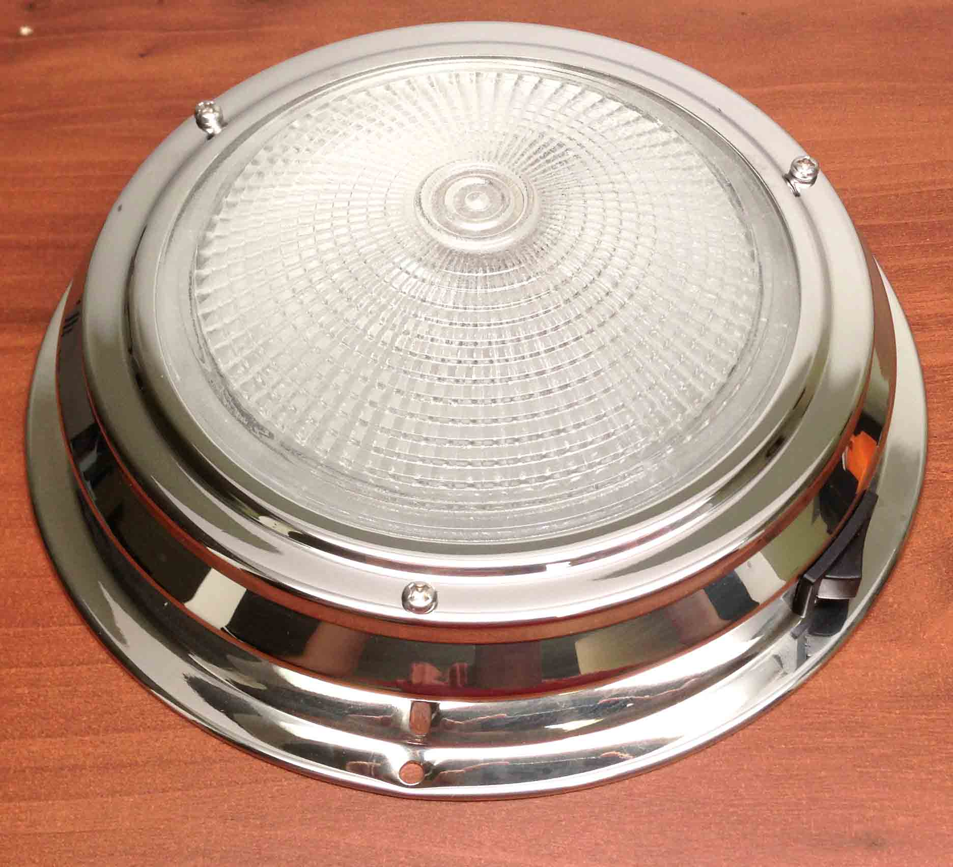 "MARINE CAR TRAILER RV 5""LENS ACCENT CEILING/CABIN/DOME LIGHT SS"
