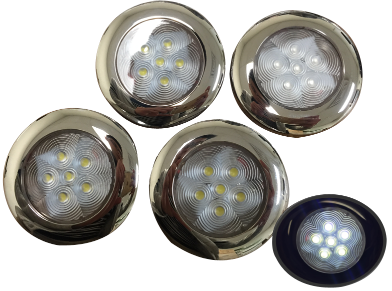 4 of Marine Boat Nature White LED Ceiling Light SS304 Housing