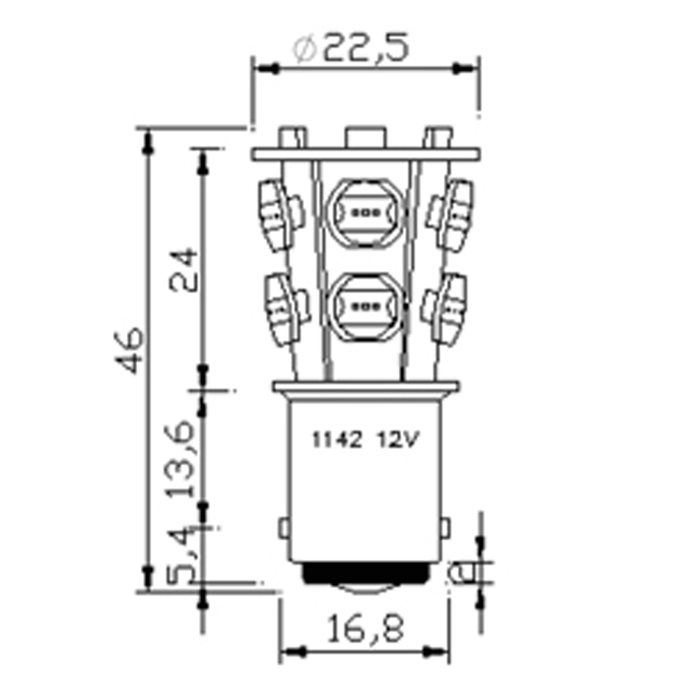 led bulb b15d 2 5w high power marine and rv lighting  u0026 accessories