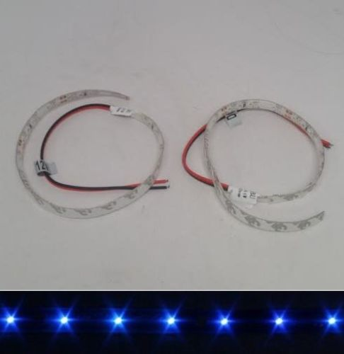 2 PCS 12V DC BLUE LED STRIP LIGHT ADHESIVE 3M BACKING