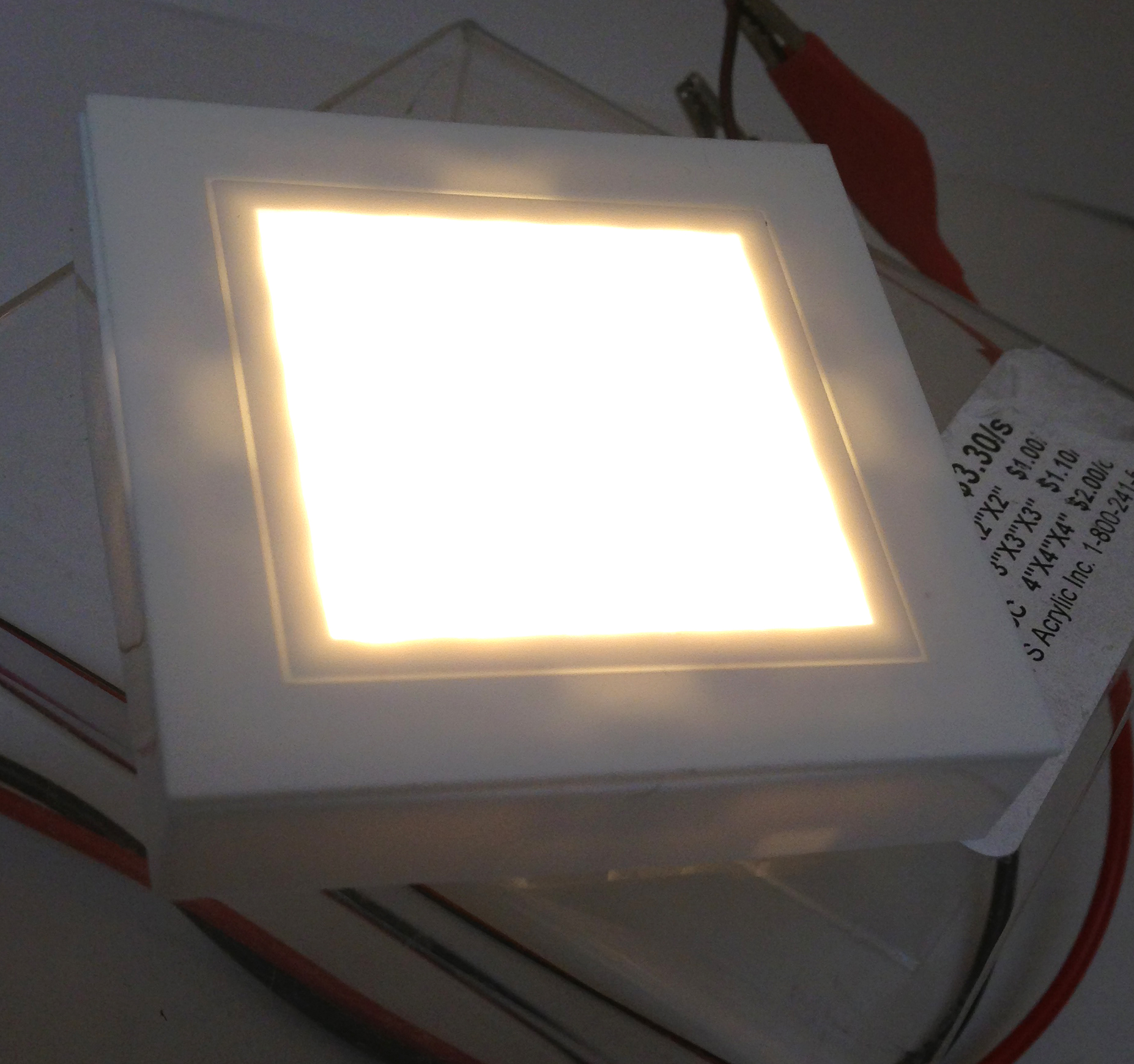 Marine Rv Led Square Ceiling Light Ip44 Waterproof Surface
