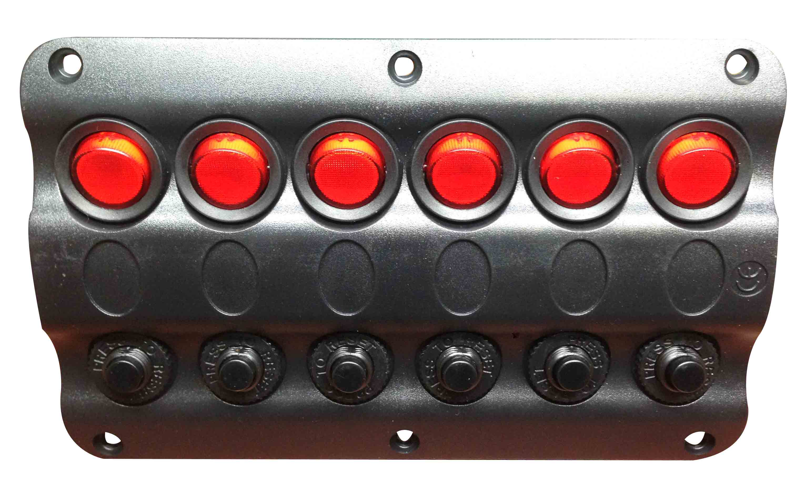 Marine Boat Ip65 Switch Panel 6 Gang Led Switches Circuit Breaker Wiring Diagram For Lights On A Engine Image Brea