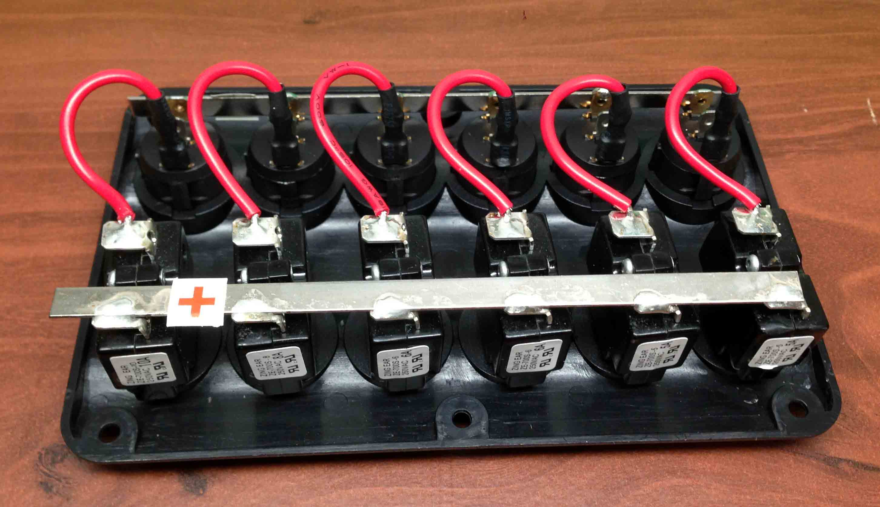 Marine    Boat    IP65 Switch Panel 6 Gang LED Switches