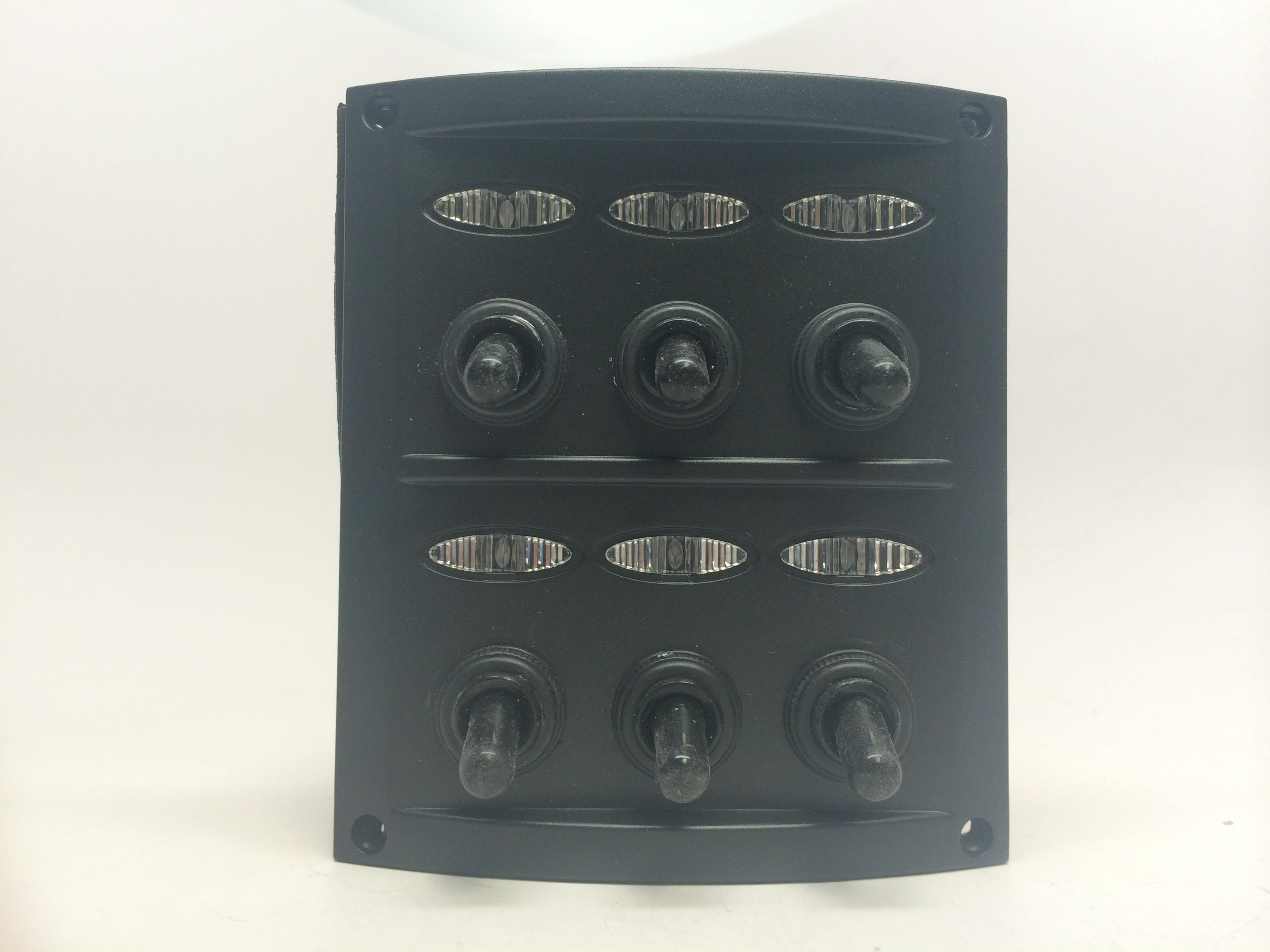 marine boat 6 gang splashproof switch panel ip65 fuses. Black Bedroom Furniture Sets. Home Design Ideas