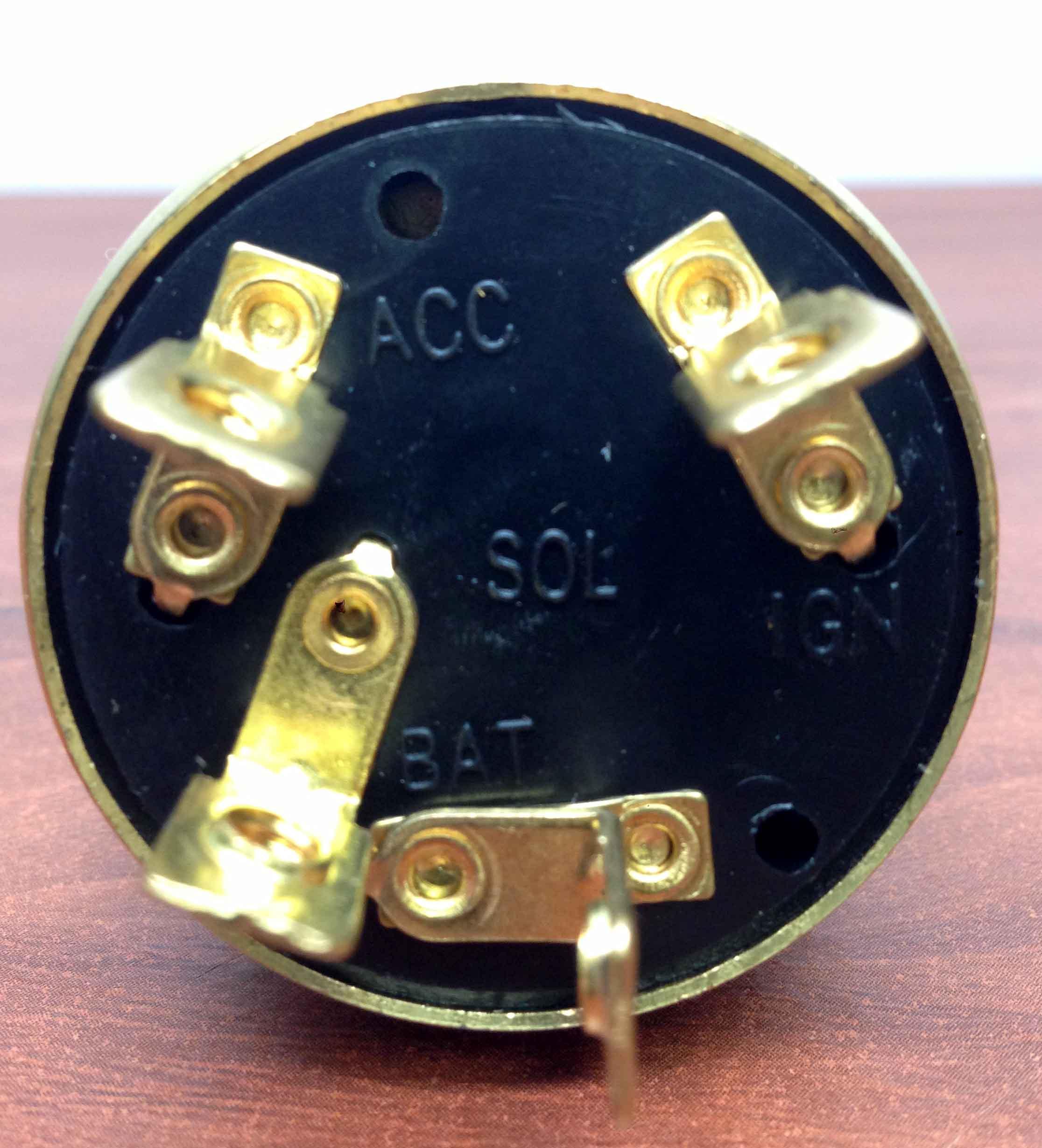 Marine Brass Ignition Starter Switch 4 Terminals 3