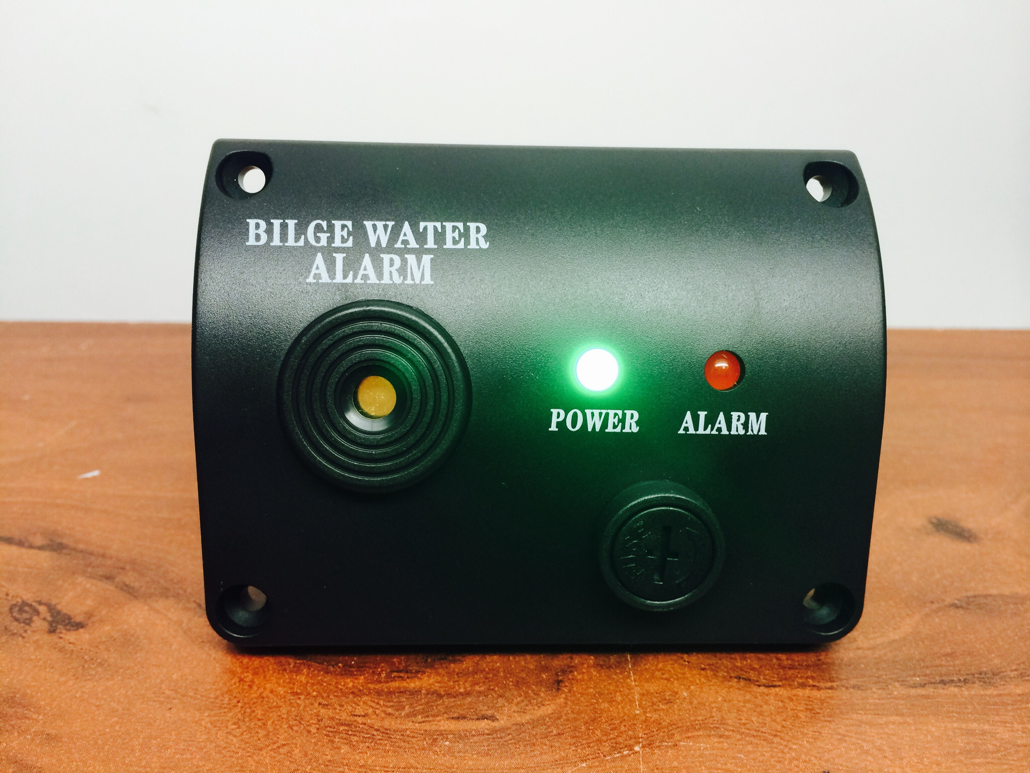 MARINE BOAT BILGE WATER ALARM 12VDC LED INDICATOR MADE OF BLACK
