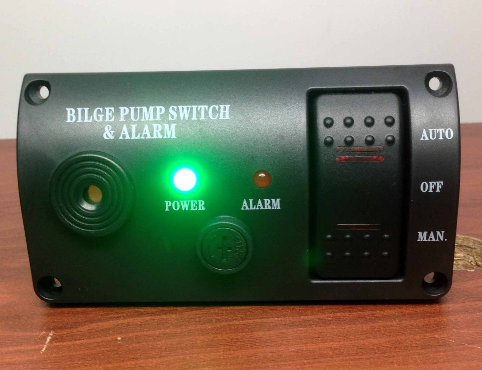 MARINE BOAT BILGE ALARM AND PUMP SWITCH ABS MANUAL AUTOMATIC OFF