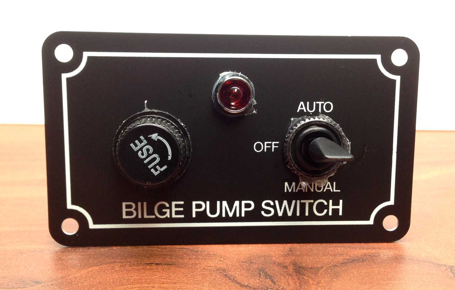 MARINE BOAT BILGE PUMP SWITCH ALUMINUM PLATE 3 WAY AUTO OFF MANU