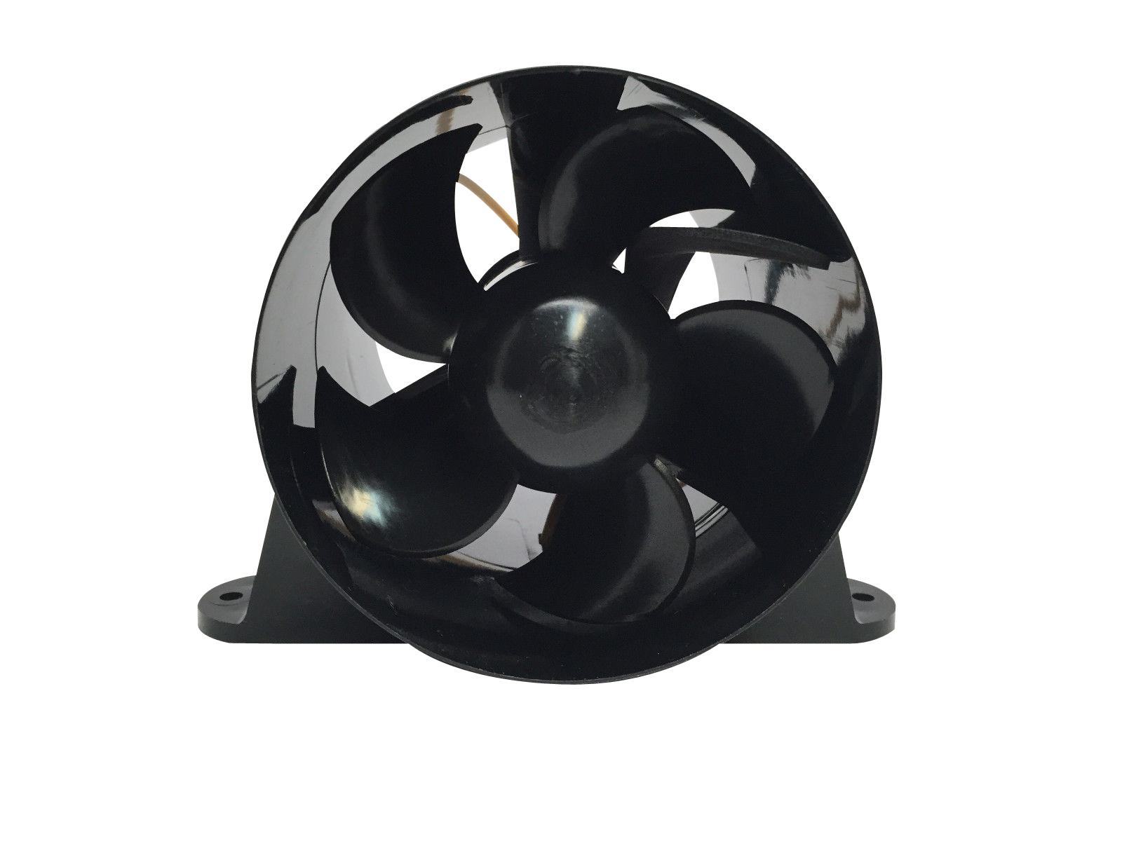 12V Black Pactrade Marine High Performance Turbo in Line Bilge Blower