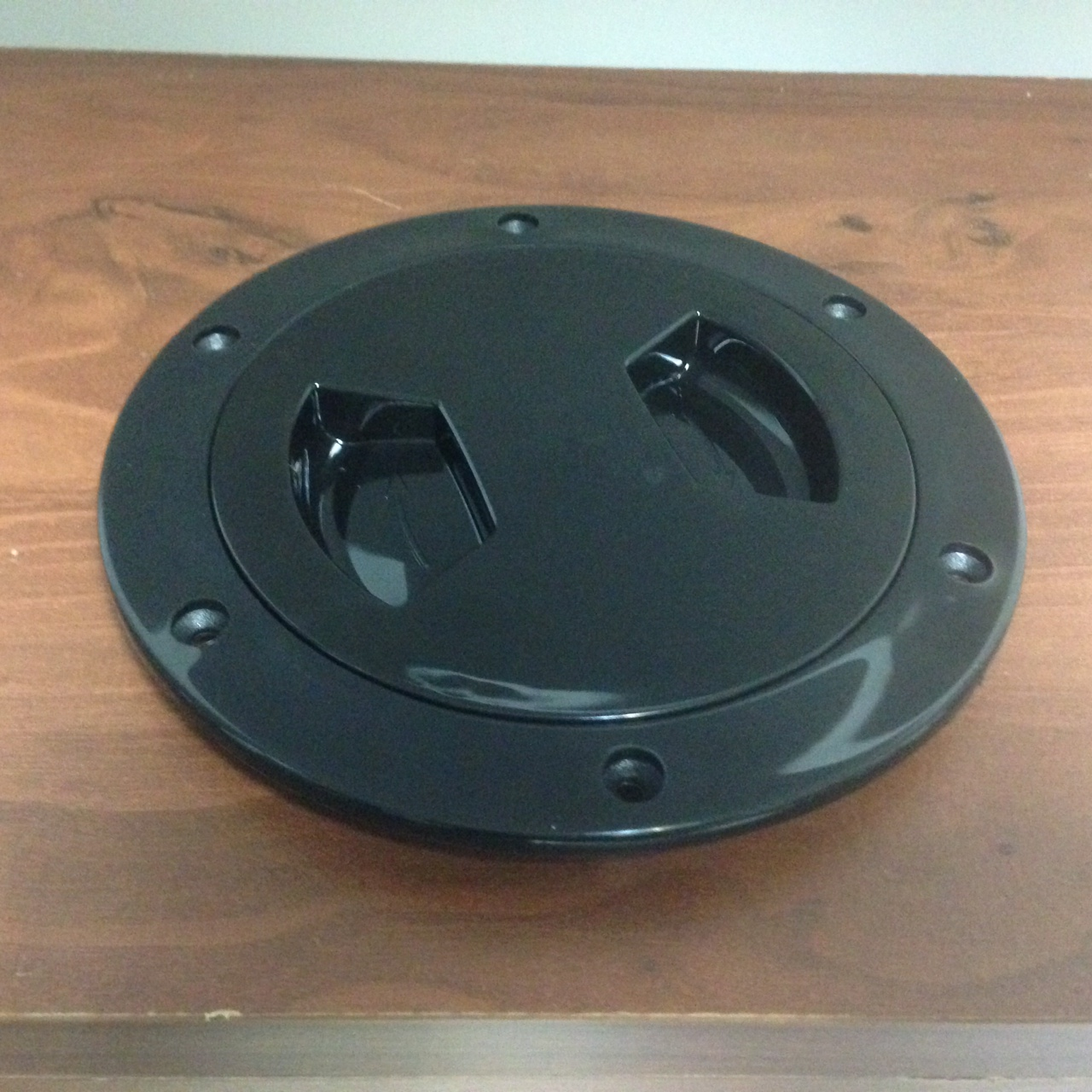 "MARINE BOAT KAYAK BLACK PLASTIC DECK PLATE 6/""D WATERPROOF INSPECTION BAYONET"