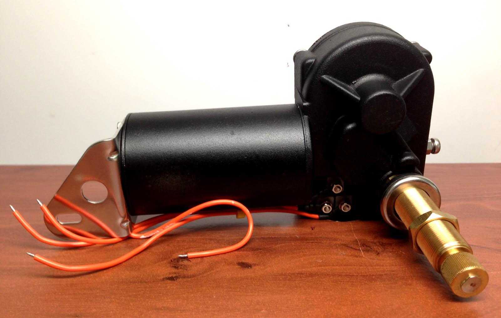 "Marine Boat Heavy Duty Self Parking SS Wiper Motor 110 Deg Adjustable 2.5/"" Shaft"