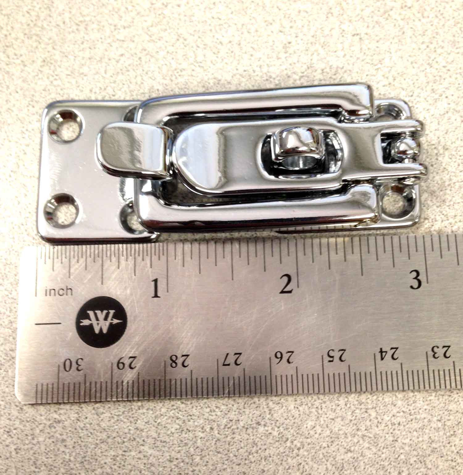 "MARINE BOAT ANTI RATTLE HATCH FASTENER CHROME PLATED BRASS 4"" BY"