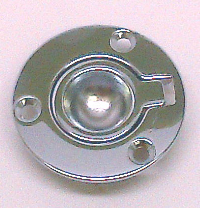 "MARINE BOAT RV CHROME PLATED BRASS RING PULL 2"" DIAMETER"