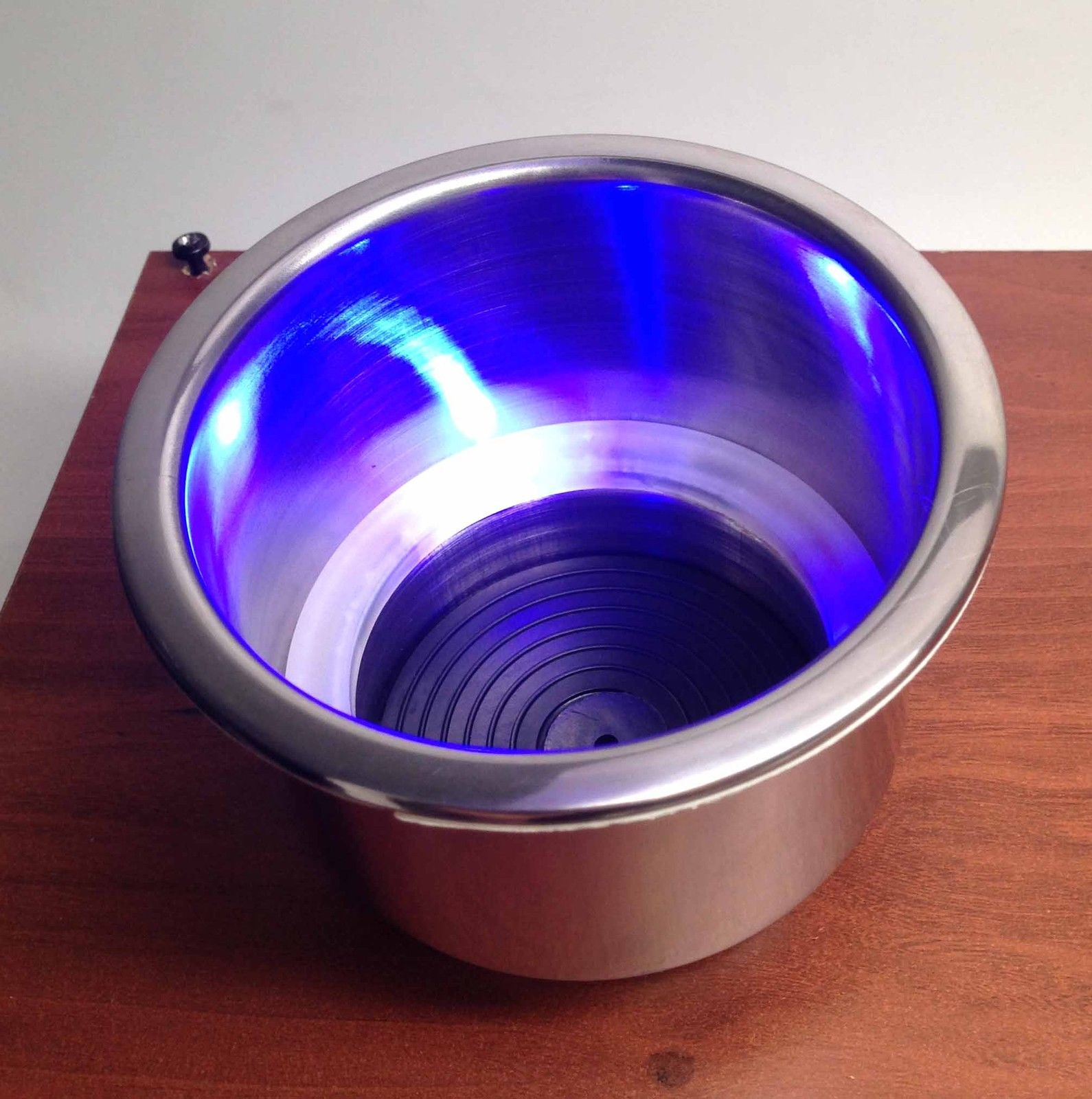 Marine Boat Rv Truck Stainless Steel Led Blue Cup Drink