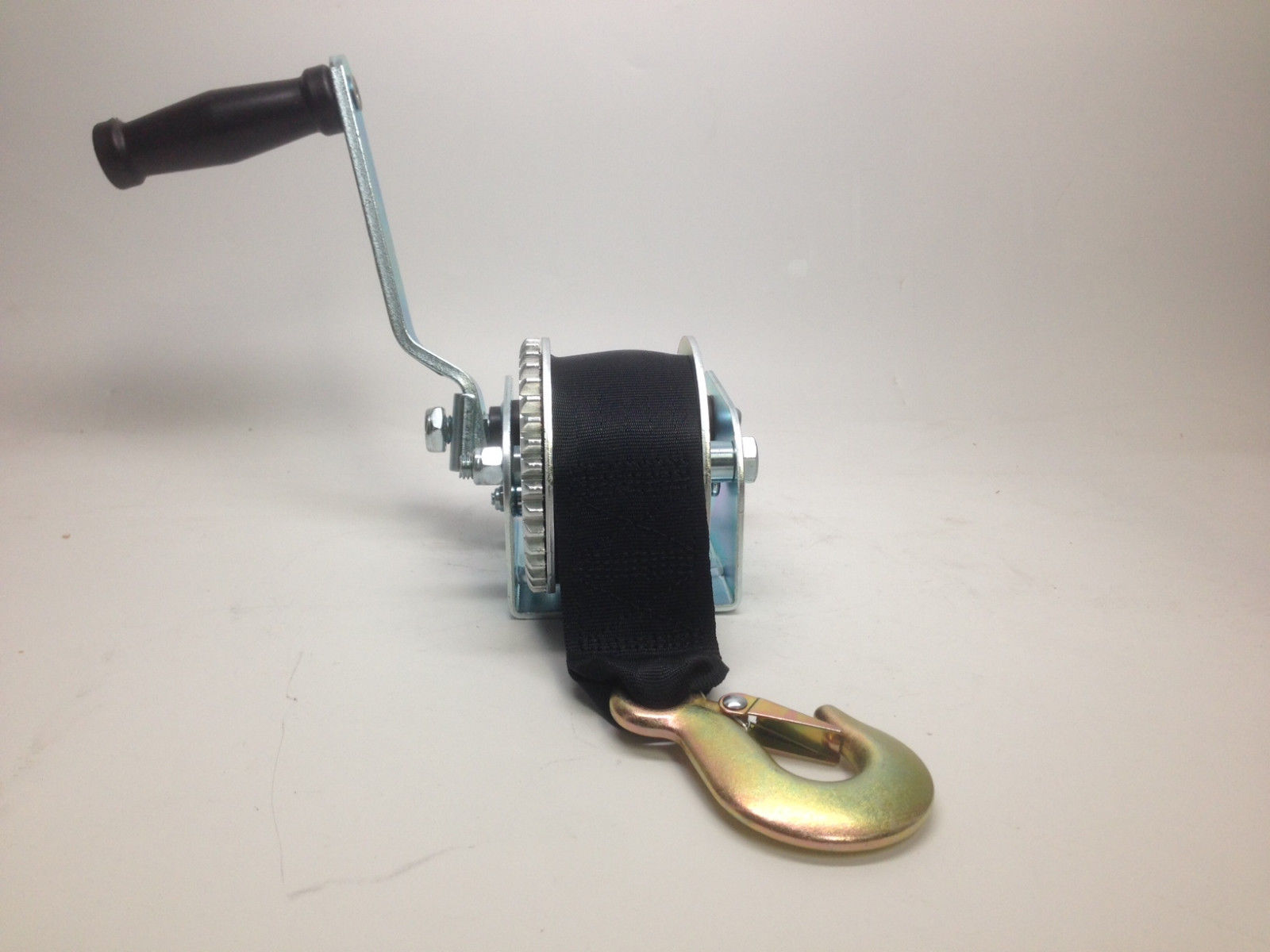 MARINE BOAT TRAILER WINCH WITH NYLON BELT 800 LBS MAX LOAD ZINC