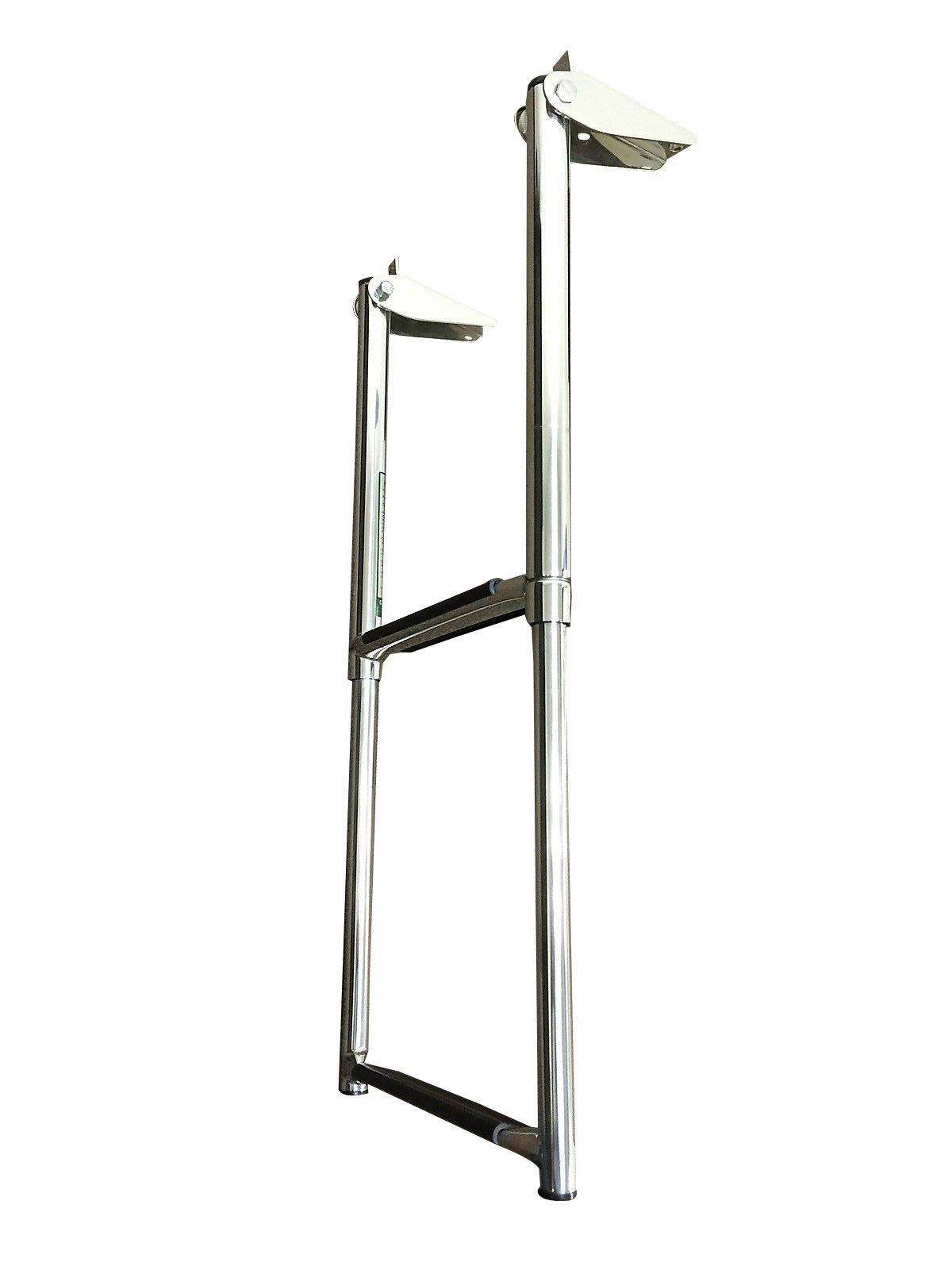 MARINE BOAT STAINLESS STEEL 2 STEP TELESCOPIC LADDER SWIM STEP O