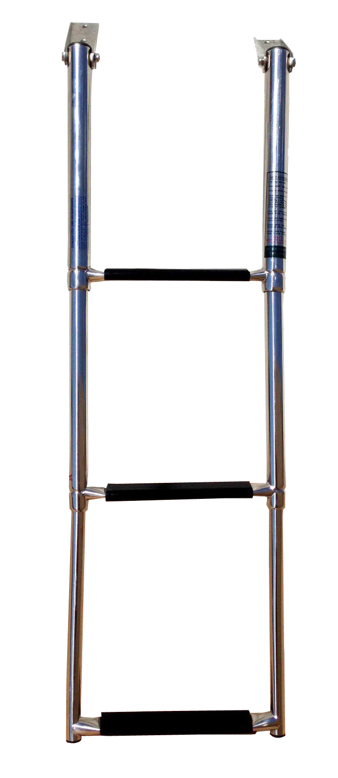 MARINE BOAT STAINLESS STEEL 3 STEP TELESCOPIC FOLDING LADDER W R