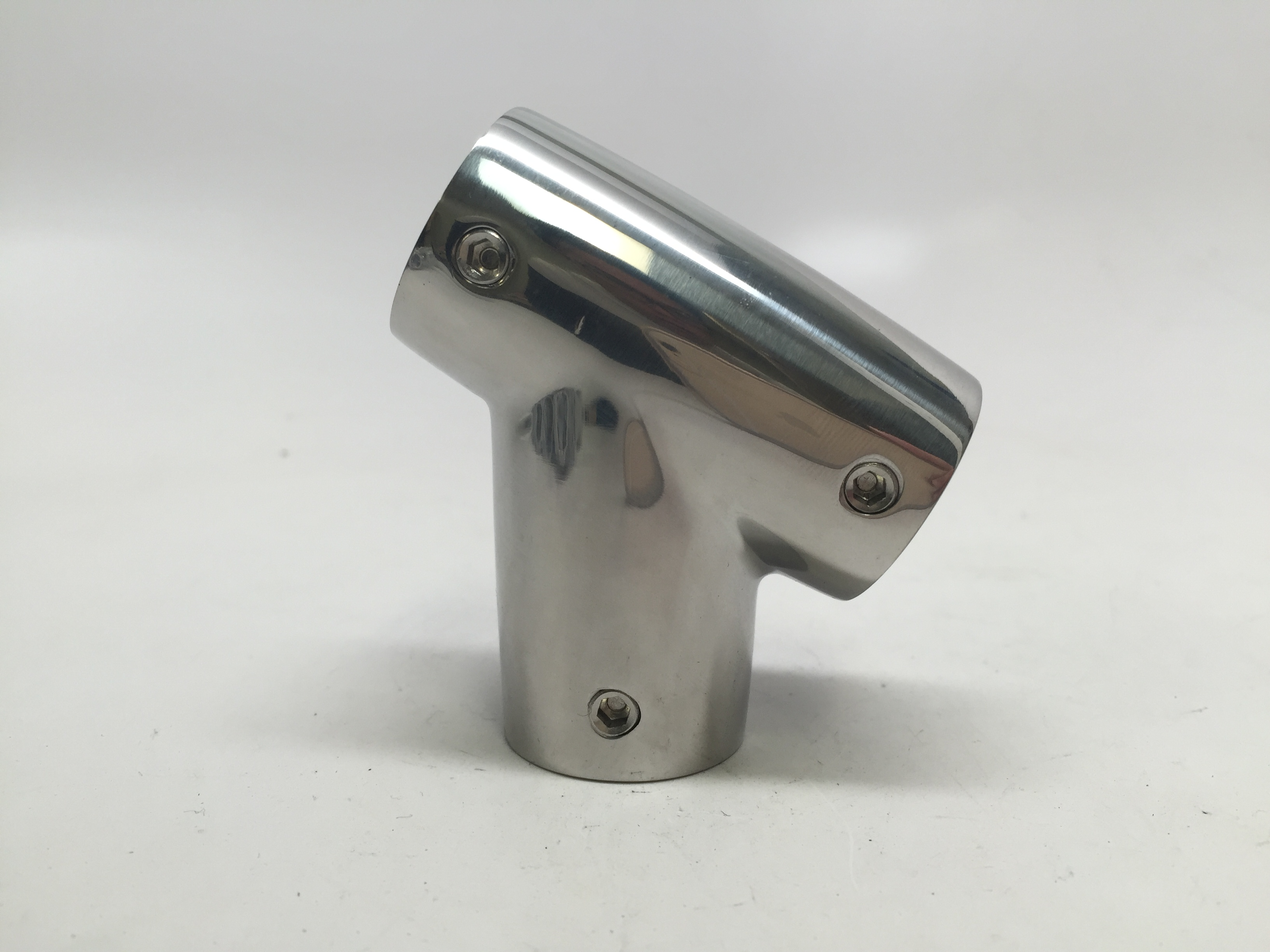 MARINE BOAT DURABLE HANDRAIL FITTING SS316 TEE FORM 60 DEG RIGHT
