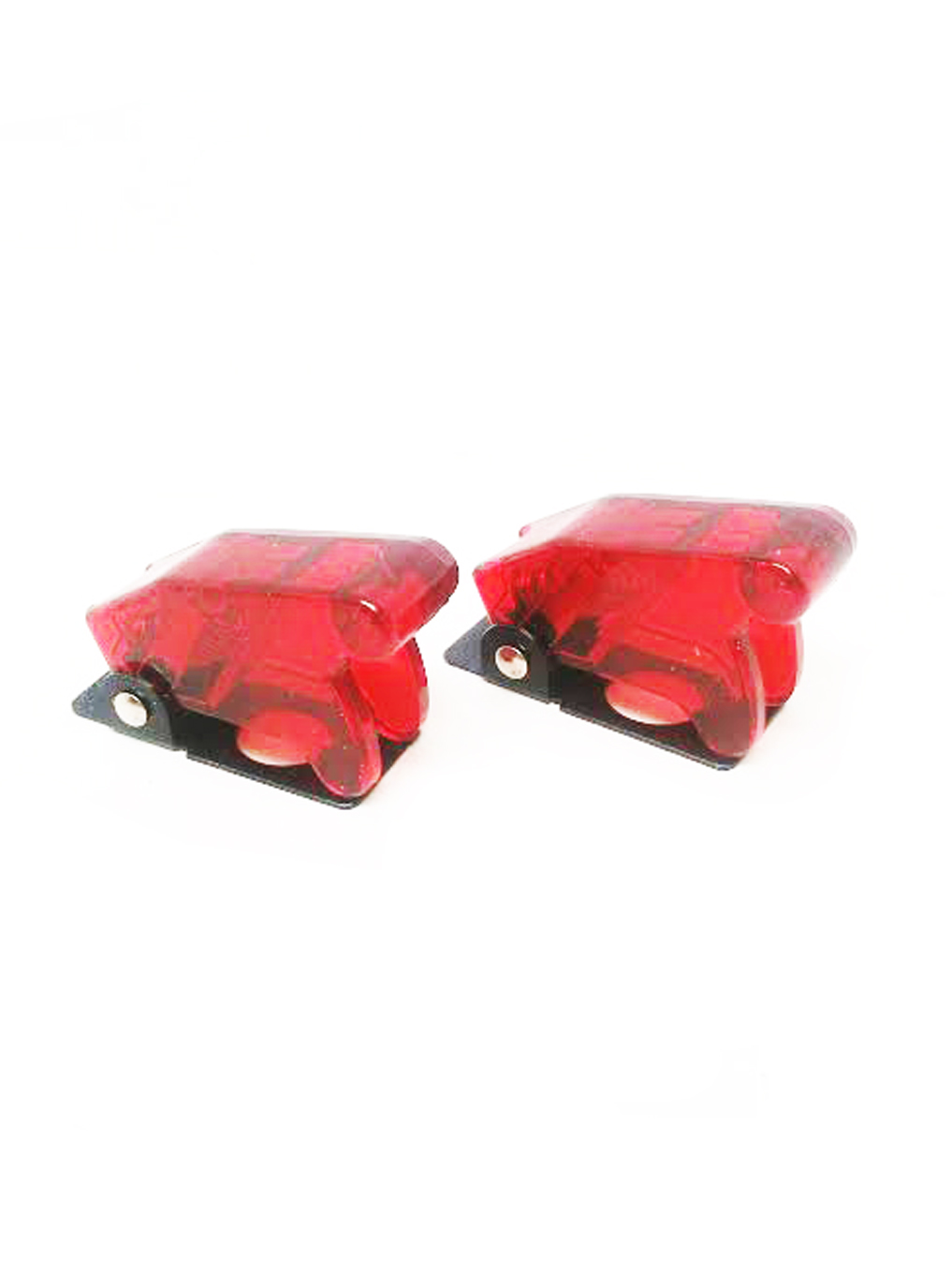 2pcs Red Safety Switch Flip Cap Cover RV Auto Boat Toggle Switch