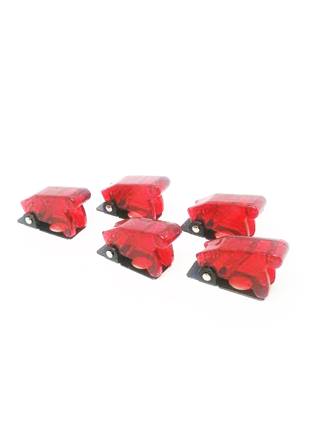 5pcs Red Safety Switch Flip Cap Cover RV Auto Boat Toggle Switch