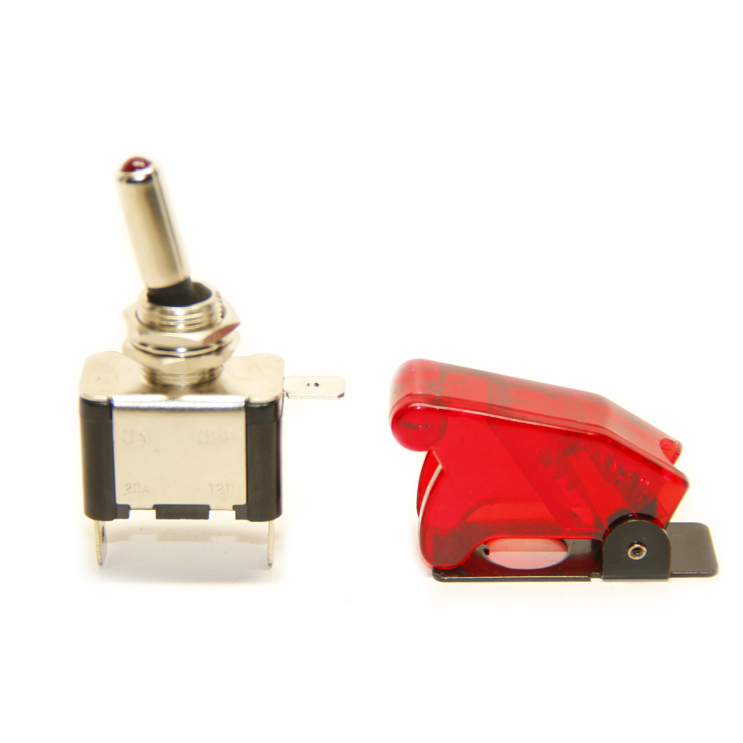 Pactrade Marine Red Led Dot Toggle Switch And Red Safety
