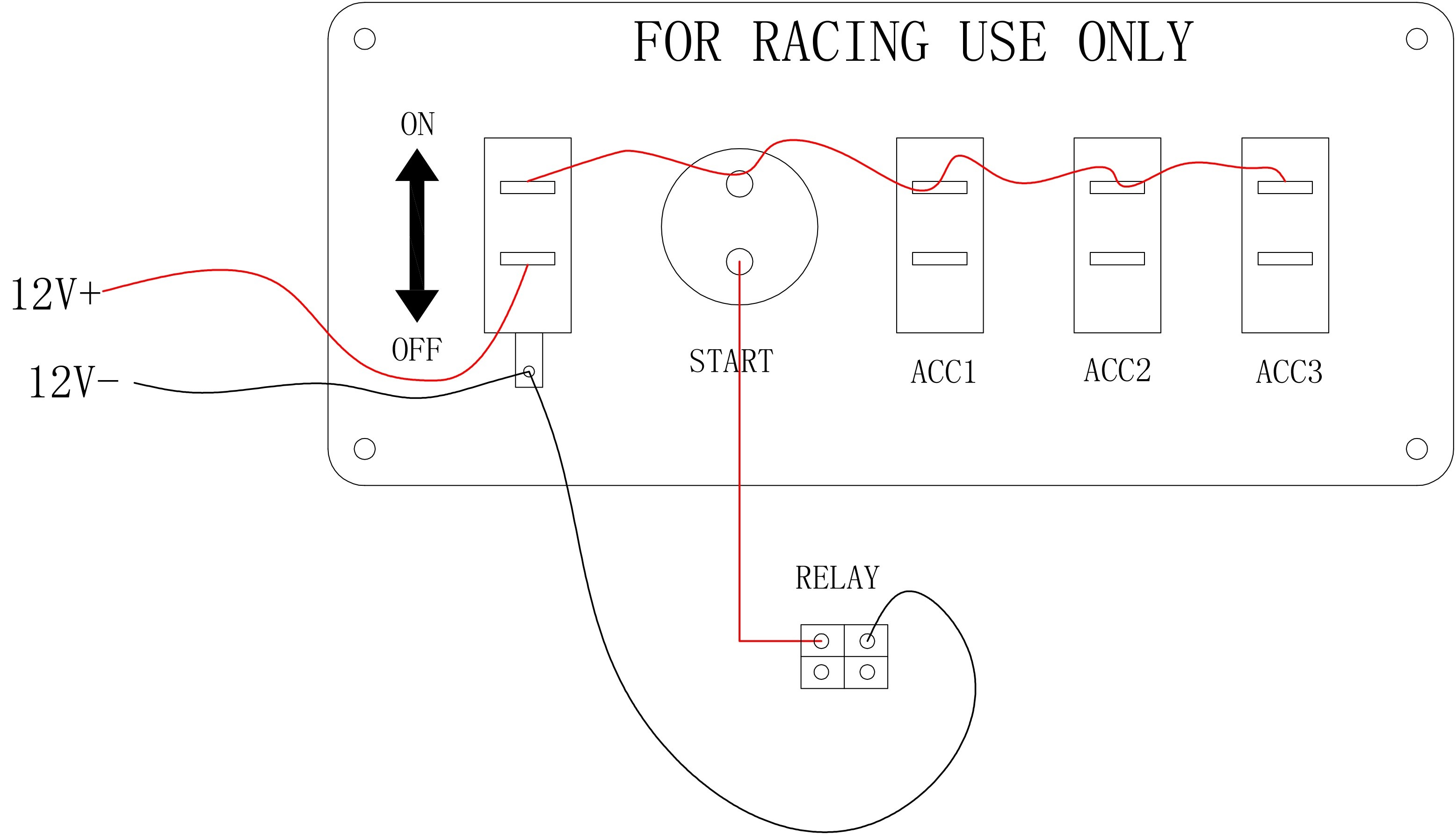 Race Car Switch Panel Wiring Diagram : Pactrade marine racing car ignition switch panel engine