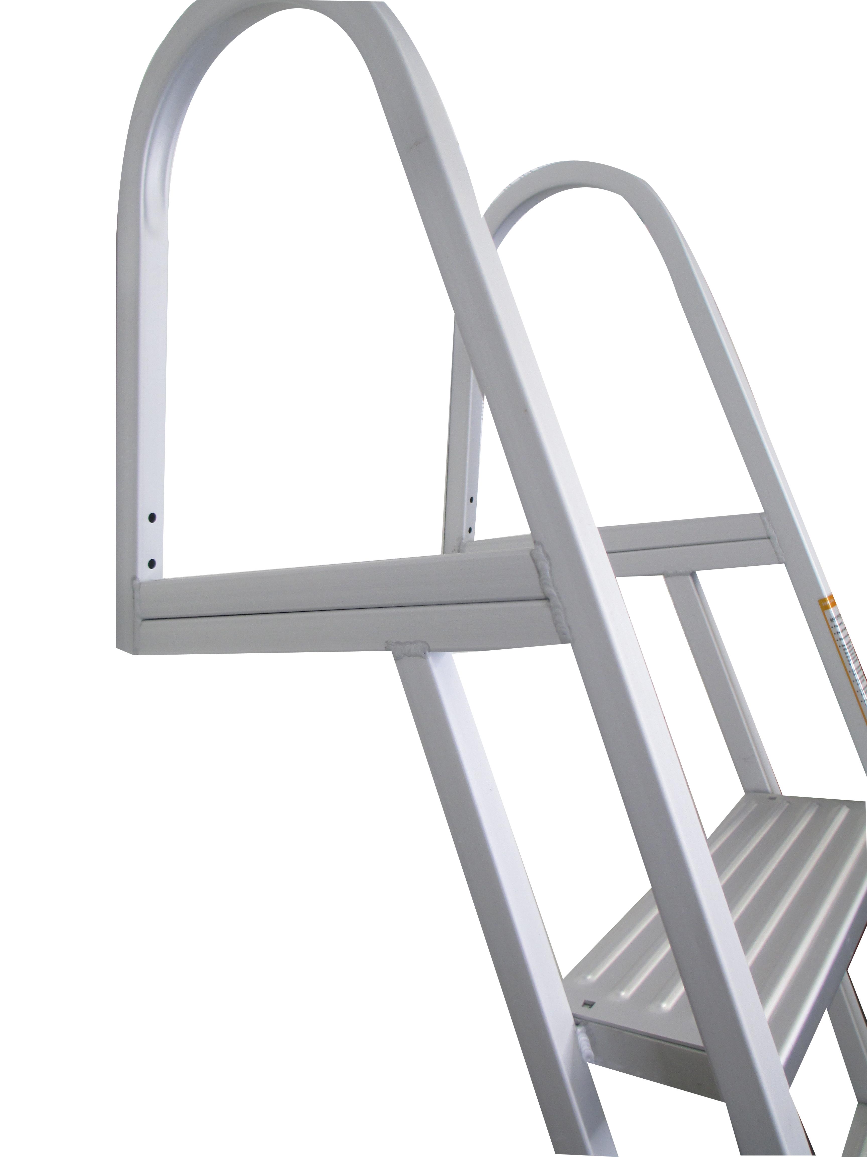 Pactrade Marine Pontoon Boat 5 Step Dock Ladder Aluminum