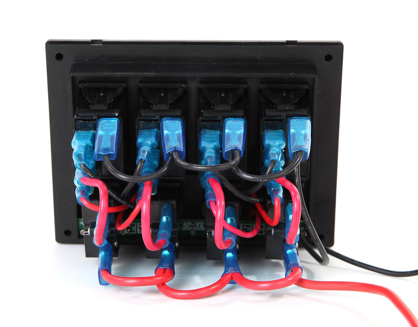 Wiring Rocker Switch Panel Wire Center Painless Marine Boat Rv 4 Gang Waterproof W Led Rh Pactrademarine Com Pin