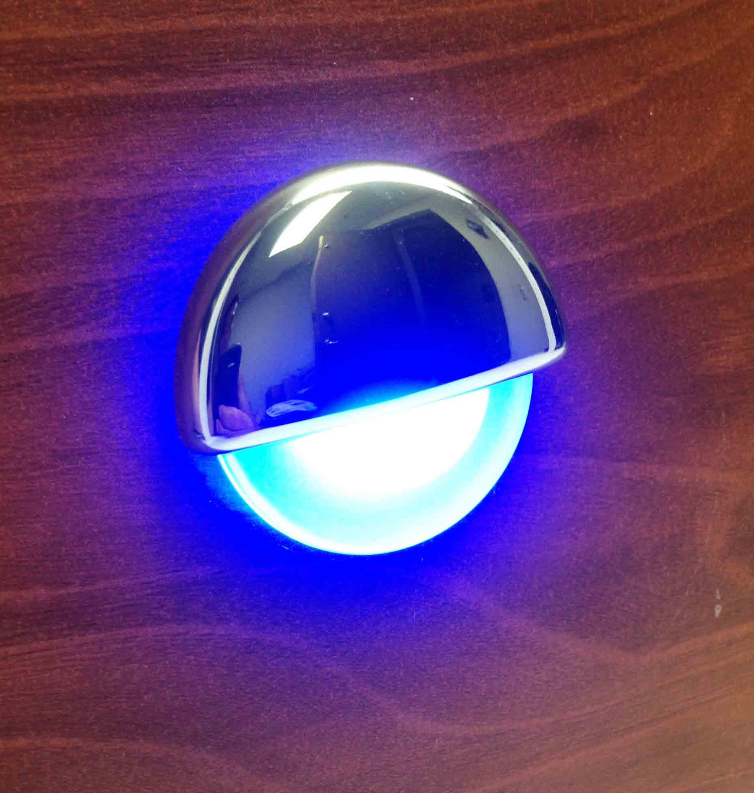 Marine Rv Led Mount Half Round Courtesy Light Oem Recessed