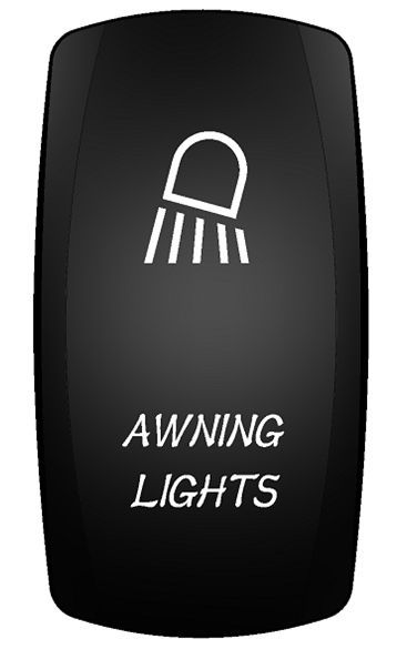 RV AUTO TRAILER AWNING LIGHTS ROCKER SWITCH (ON)-OFF-ON SPDT 4-P
