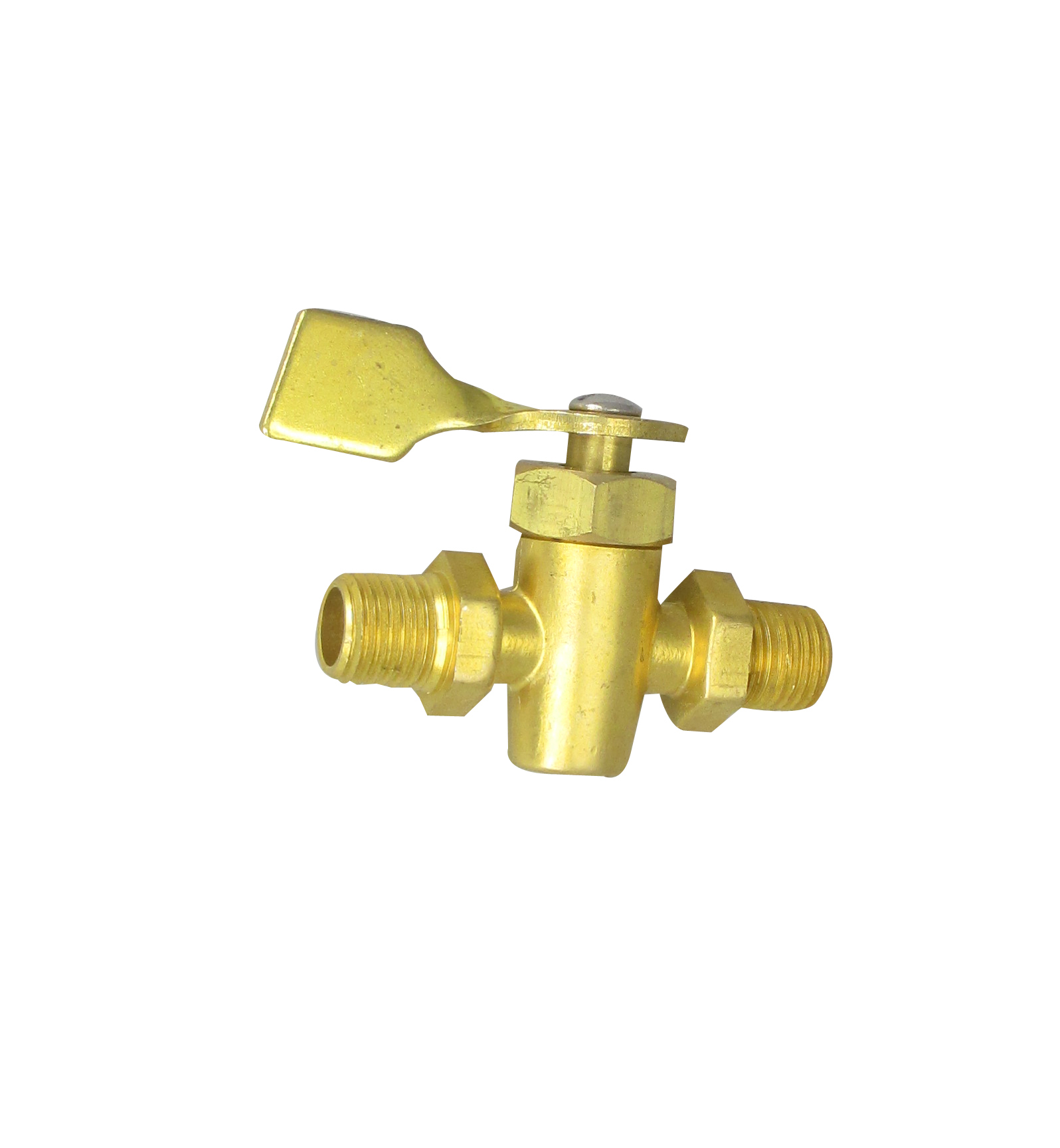 "Boat Fuel Tank 2 Way On-Off Horizontal Shut Off Valve 3/8"" NPT"