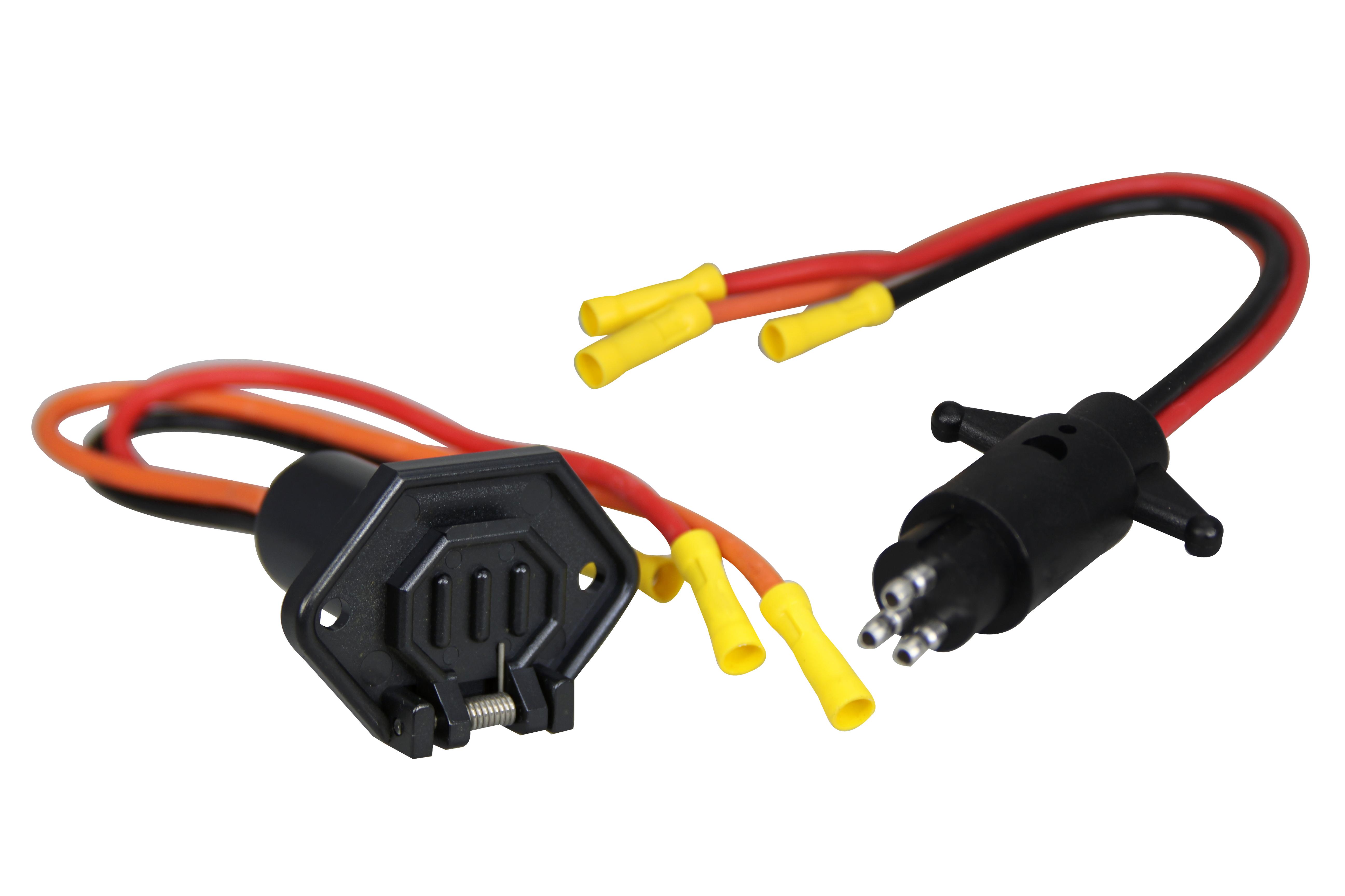 24v Trolling Motor Wiring Gauge Solutions Plug Diagram 3 Wire Connecter Pactrade Marine Boat Socket Set 12